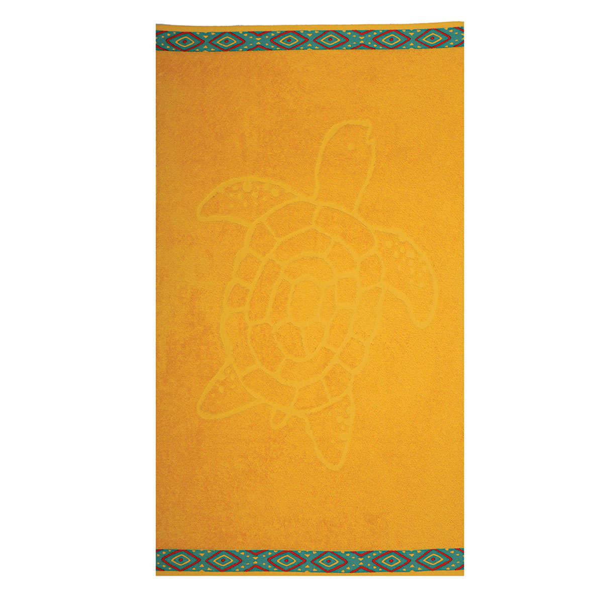 Πετσέτα Θαλάσσης Turtle Yellow Nef-Nef Θαλάσσης 70x120cm