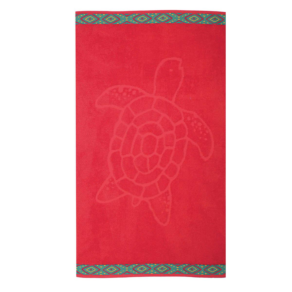 Πετσέτα Θαλάσσης Turtle Red Nef-Nef Θαλάσσης 70x120cm