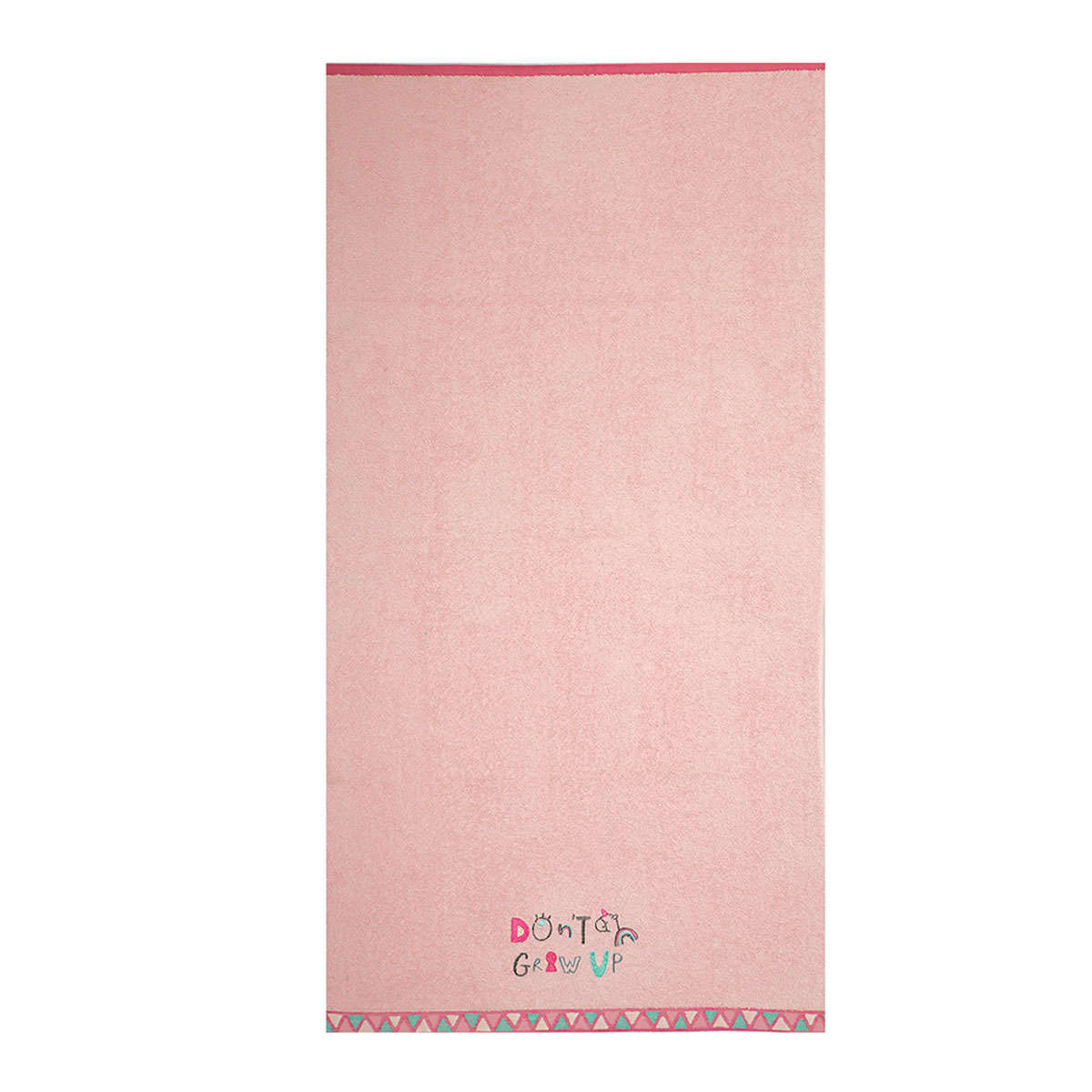 Πετσέτα Θαλάσσης Παιδική Don't Grow Up Pink 70X130 Nef-Nef Θαλάσσης 70x130cm
