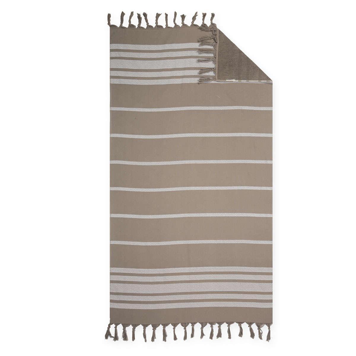 Πετσέτα Θαλάσσης Reflect Brown Nef-Nef Θαλάσσης 90x170cm