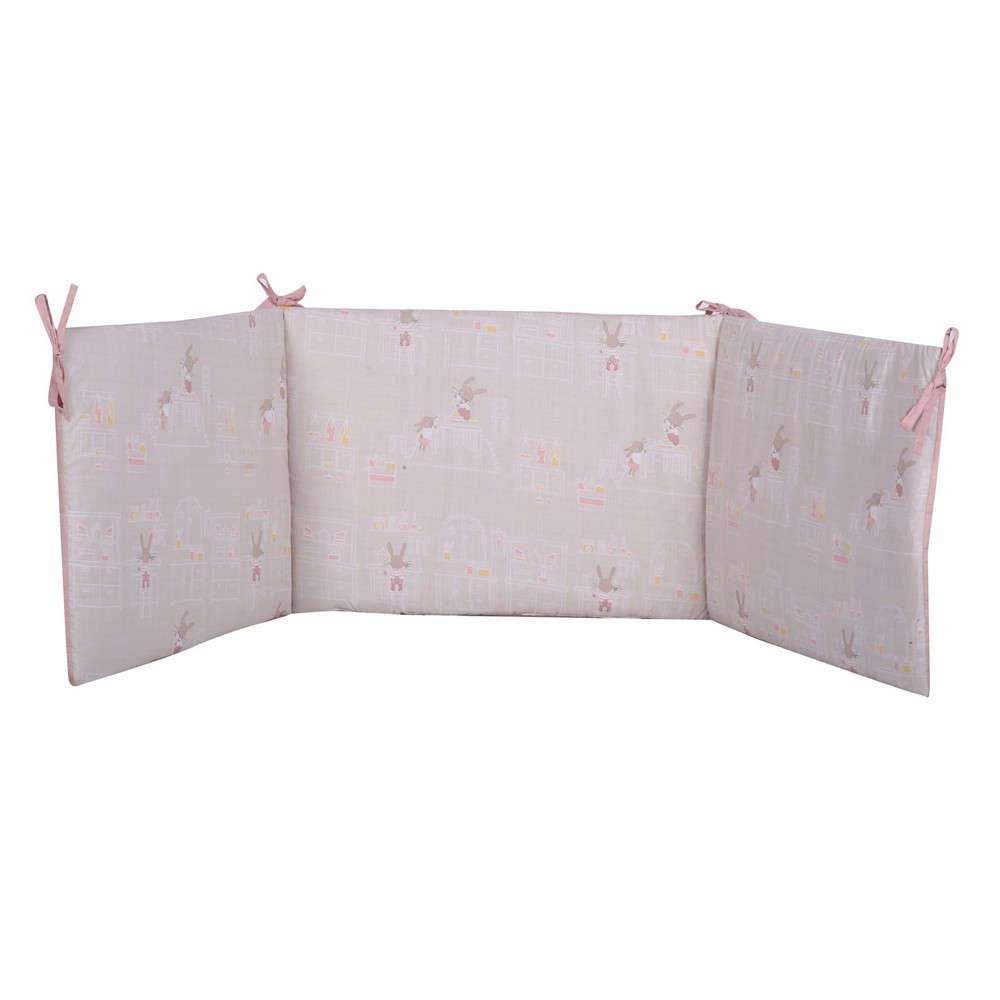 Πάντα Βρεφική Rabbit In The House Beige-Pink Nef Nef 60x67x60+40cm