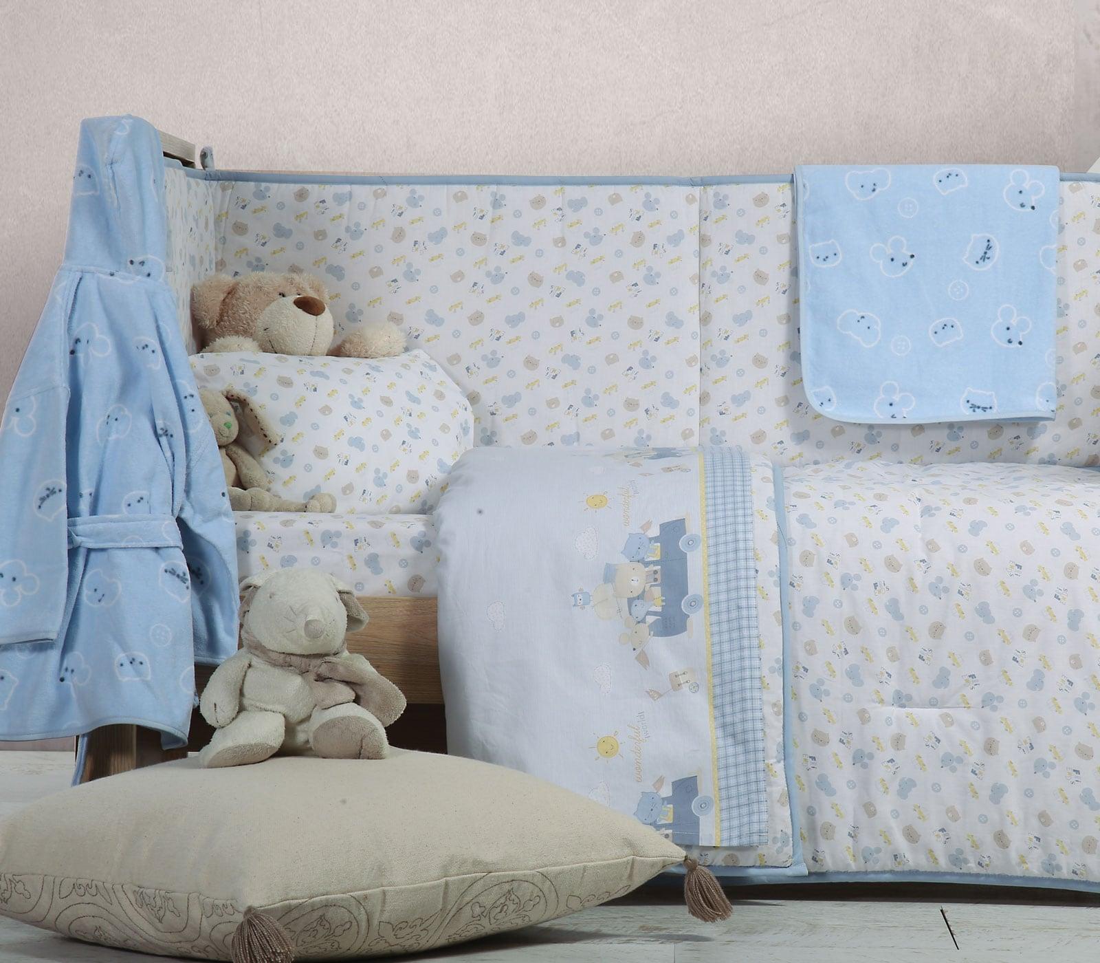 Πάπλωμα Βρεφικό Wonderful World White-Blue Nef Nef 110x140cm