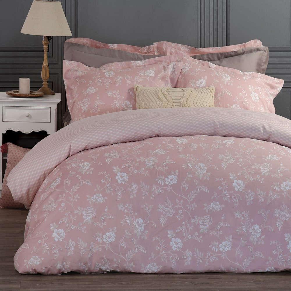Κουβερλί Ipomea Pink Nef Nef Υπέρδιπλo 240x230cm