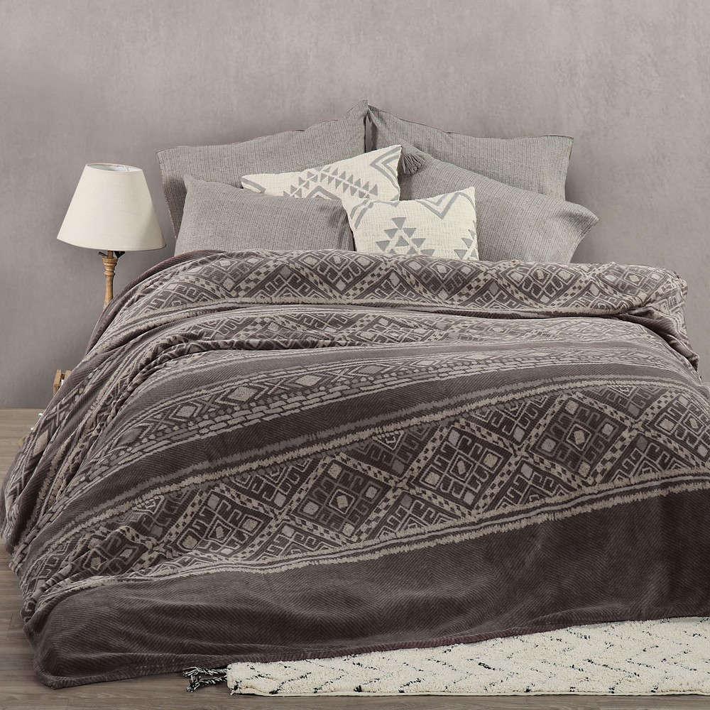 Κουβέρτα Fleece Gana Anthracite Nef Nef Υπέρδιπλo 240x220cm