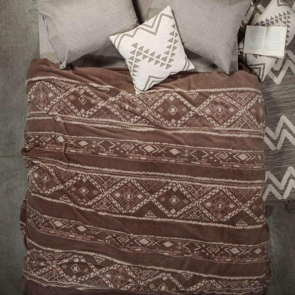 Κουβέρτα Fleece Gana Taupe Nef Nef Μονό 160x220cm