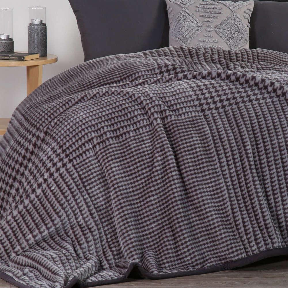 Κουβέρτα Rooster Grey Nef Nef Υπέρδιπλo 220x240cm