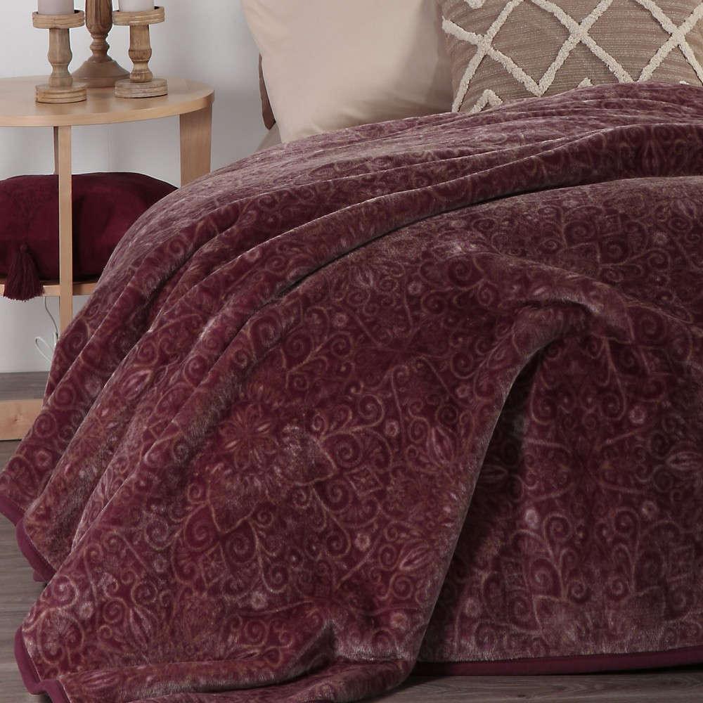Κουβέρτα Realta Wine Nef Nef Υπέρδιπλo 220x240cm