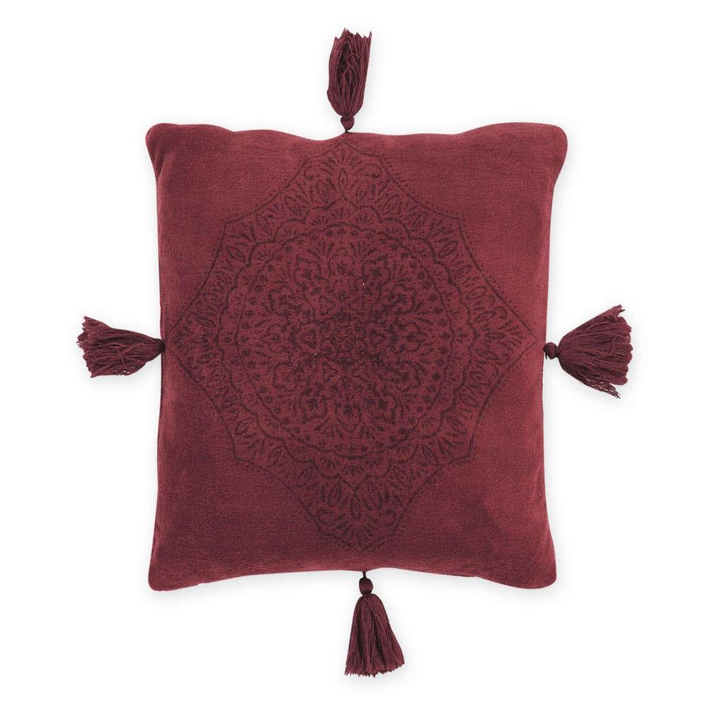 Μαξιλάρι Διακοσμητικό Ava Bordo (Με Γέμιση) Nef Nef 45X45 100% Polyester