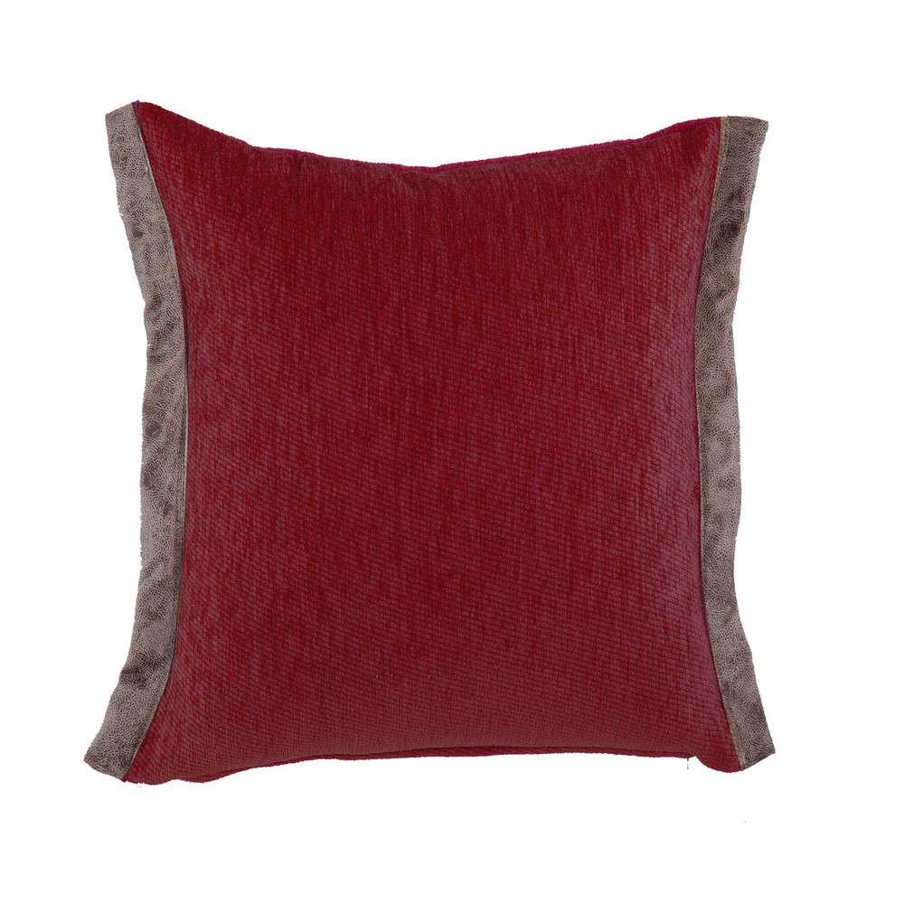 Μαξιλάρι Διακοσμητικό New Tanger Grey-Bordo (Με Γέμιση) Nef Nef 45X45 Ακρυλικό-Polyester