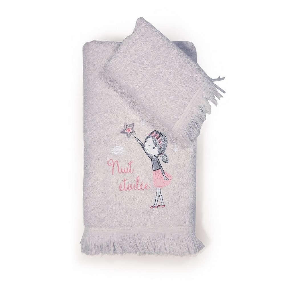Πετσέτες Παιδικές Σετ 2τμχ. Nuit Grey Nef Nef Σετ Πετσέτες