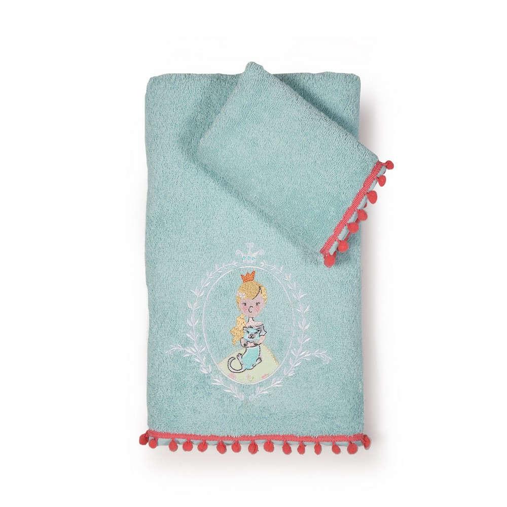 Πετσέτες Παιδικές Σετ 2τμχ. Princess Day Turkuaz Nef Nef Σετ Πετσέτες