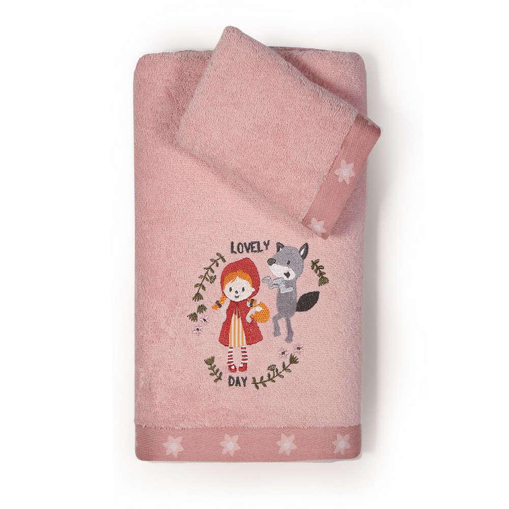 Πετσέτες Παιδικές Σετ 2τμχ. Red Riding Hood Pink Nef Nef Σετ Πετσέτες