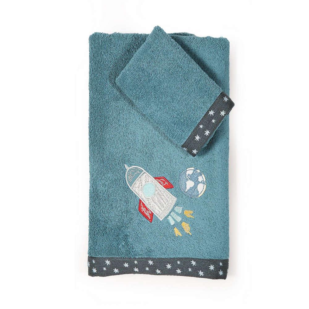 Πετσέτες Παιδικές Σετ Space Travel Blue Nef Nef Σετ Πετσέτες