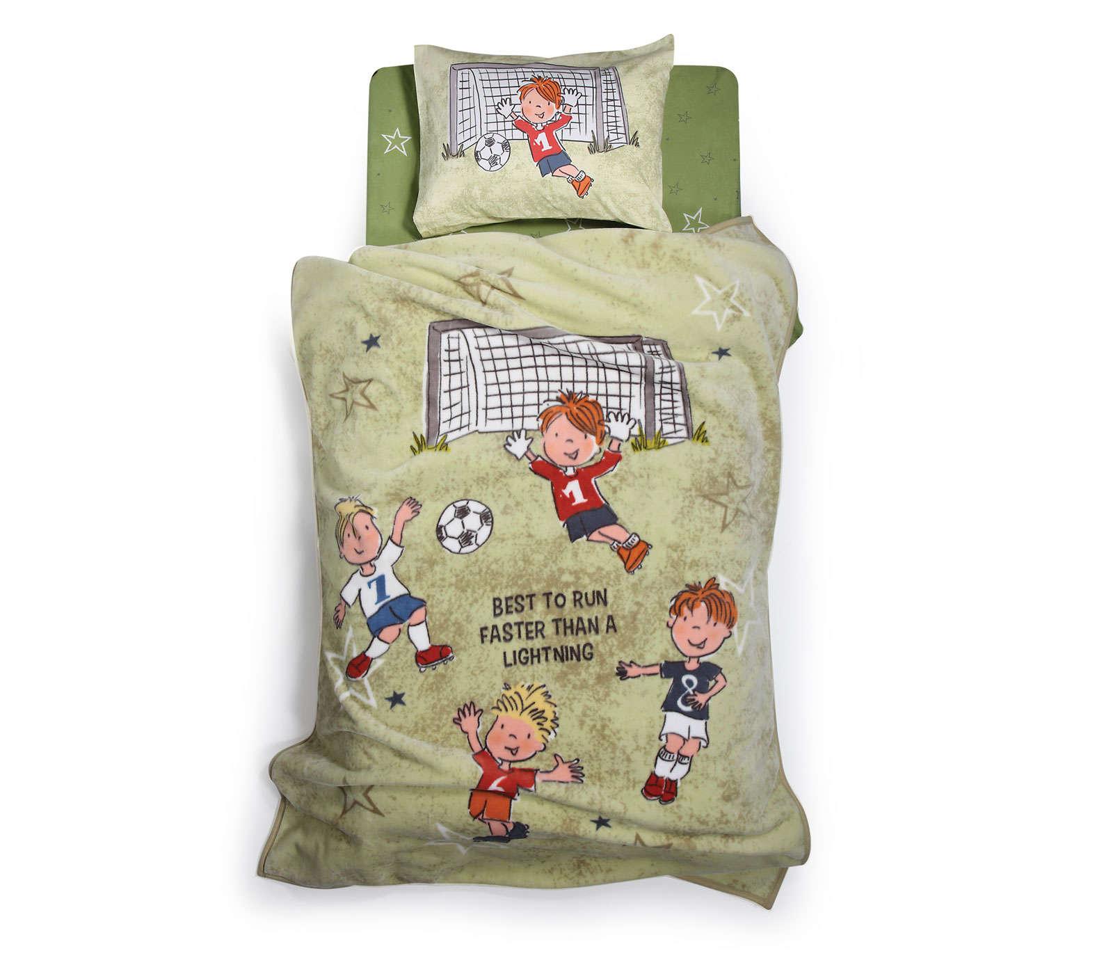 Κουβέρτα Παιδική Football Game Olive Nef Nef Μονό 160x220cm