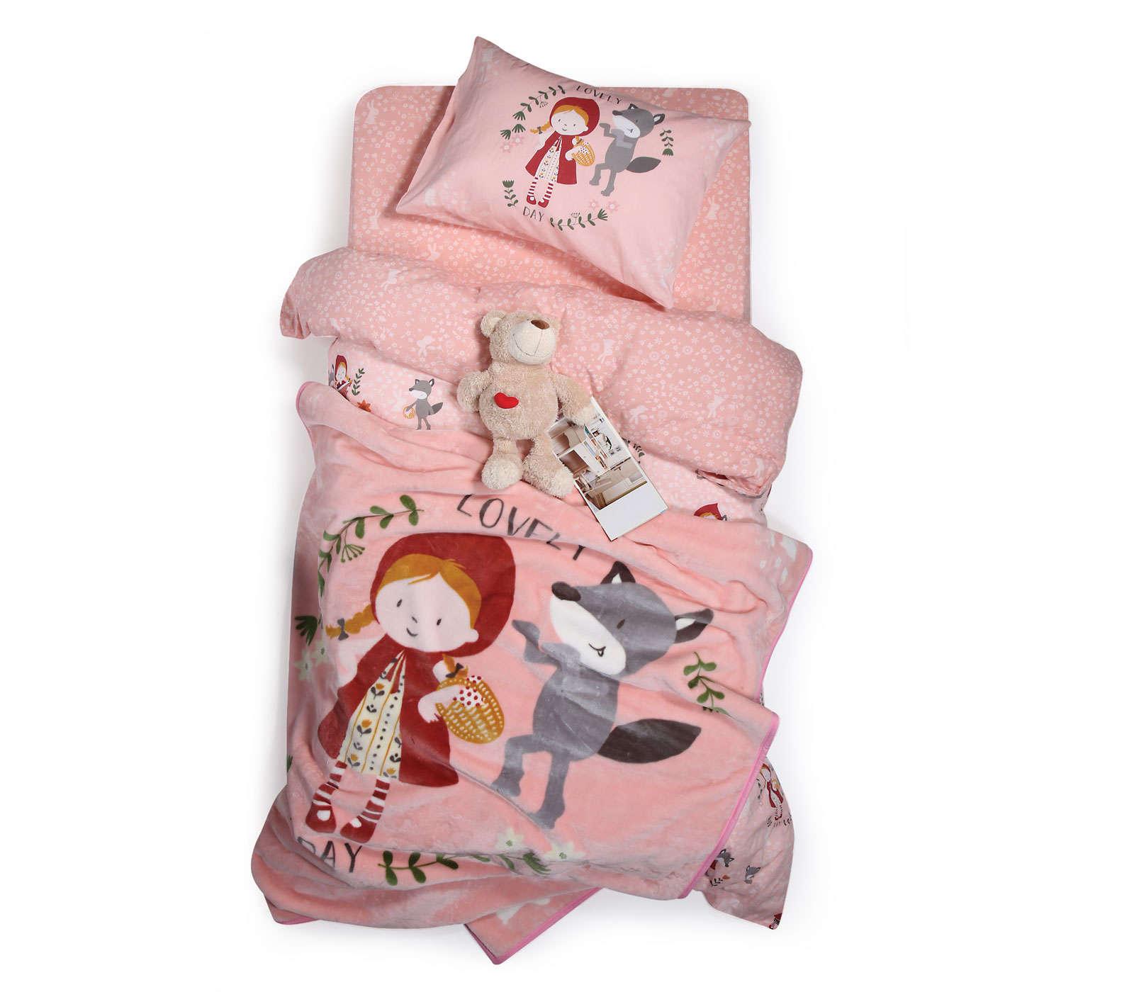 Κουβέρτα Παιδική Red Riding Hood Pink Nef Nef Μονό 160x220cm
