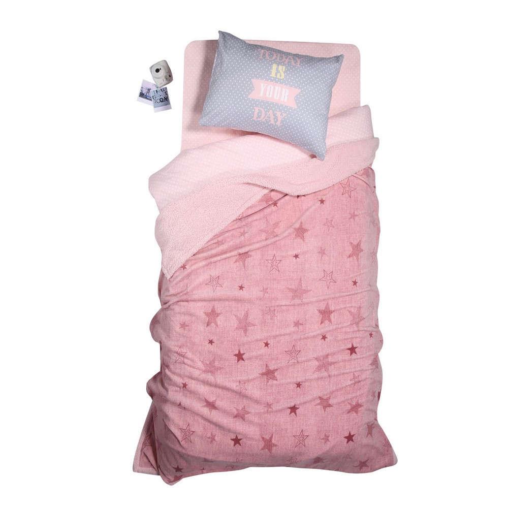 Κουβέρτα Παιδική Με Γούνα Astro Pink Nef Nef Μονό 160x220cm