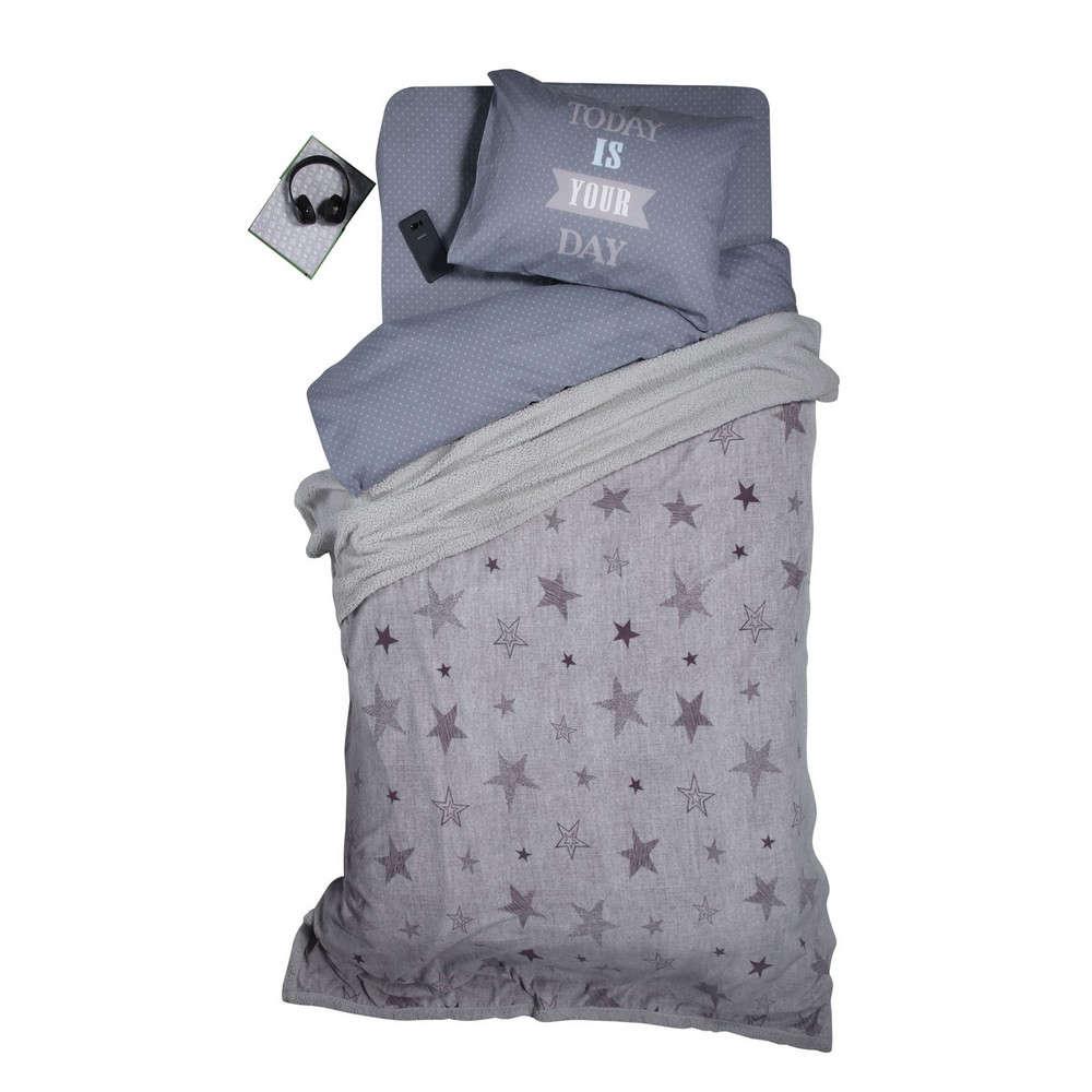 Κουβέρτα Παιδική Με Γούνα Astro Silver-Grey Nef Nef Μονό 160x220cm