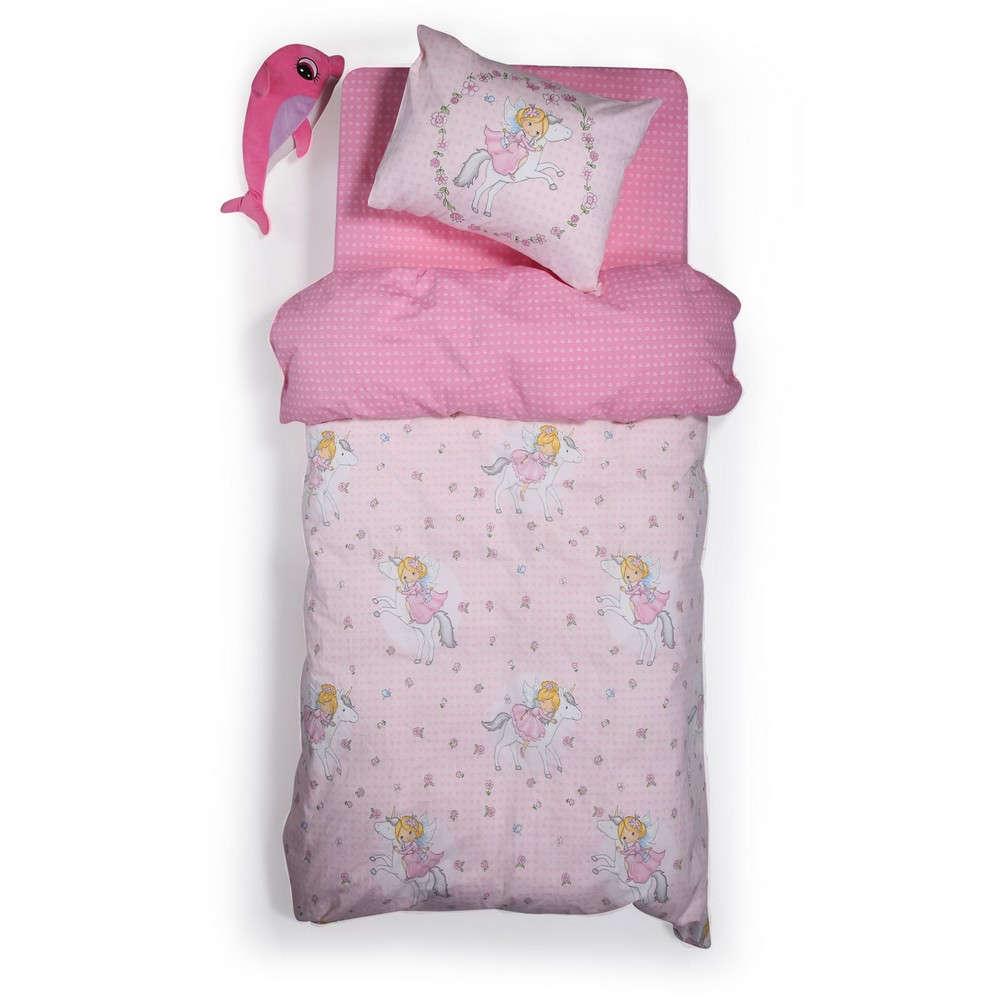 Παπλωματοθήκη Παιδική Σετ I Love My Unicorn Pink Nef Nef Μονό 160x240cm