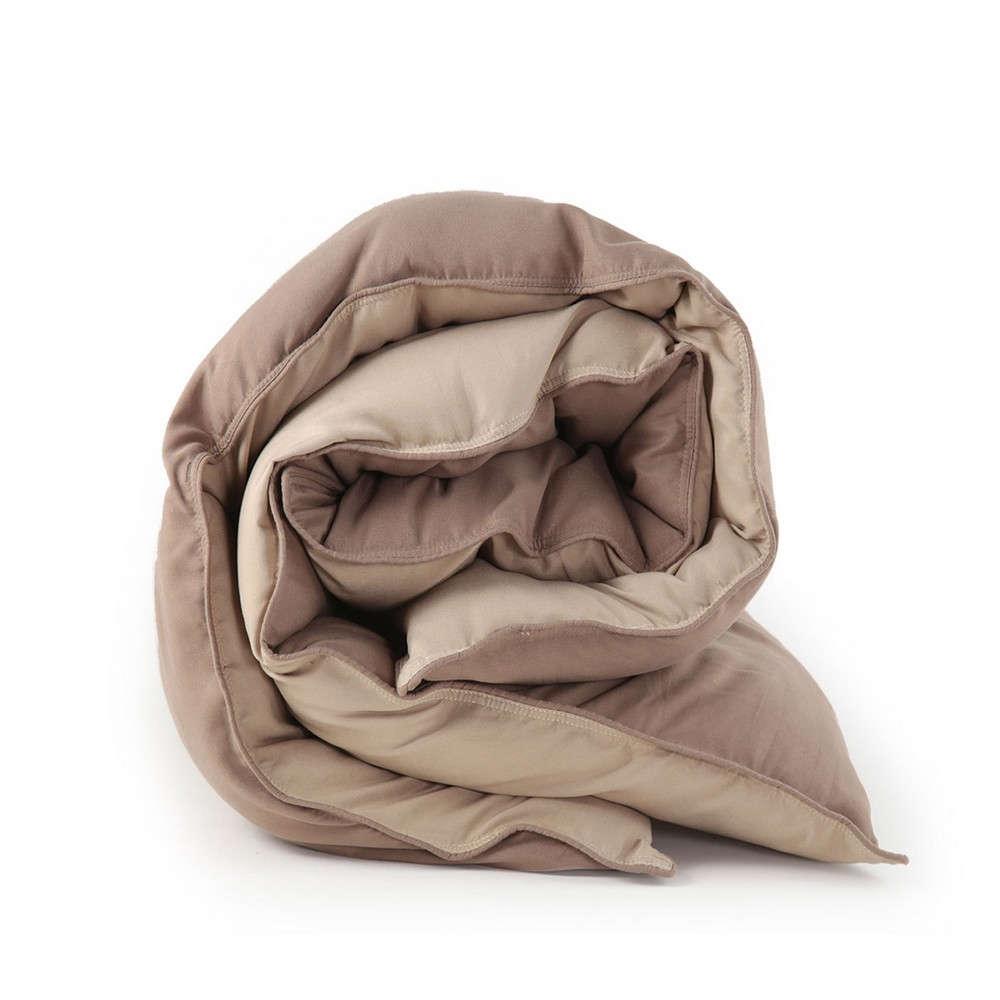 Πάπλωμα Bicolor Brown-Beige Nef Nef Μονό 160x220cm