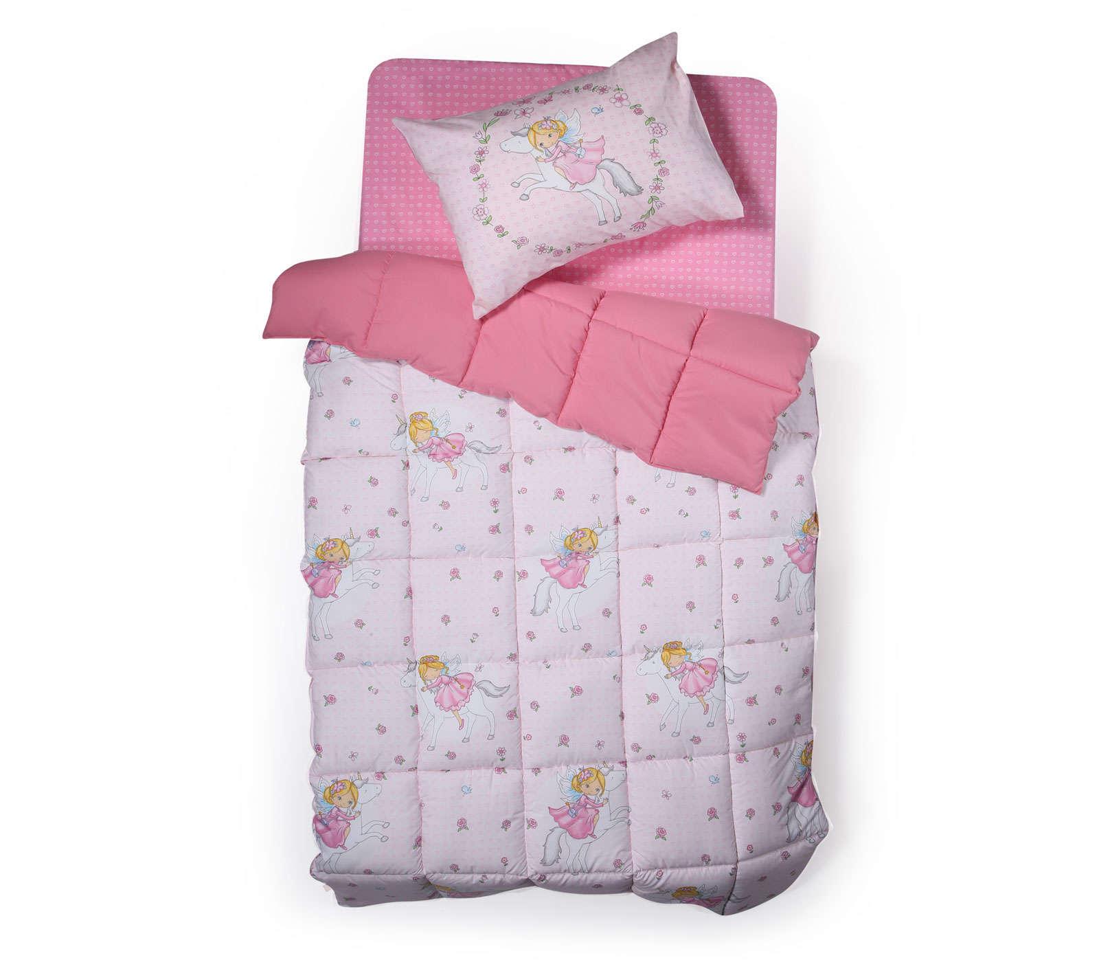Πάπλωμα I Love My Unicorn Pink Nef Nef Μονό 160x220cm