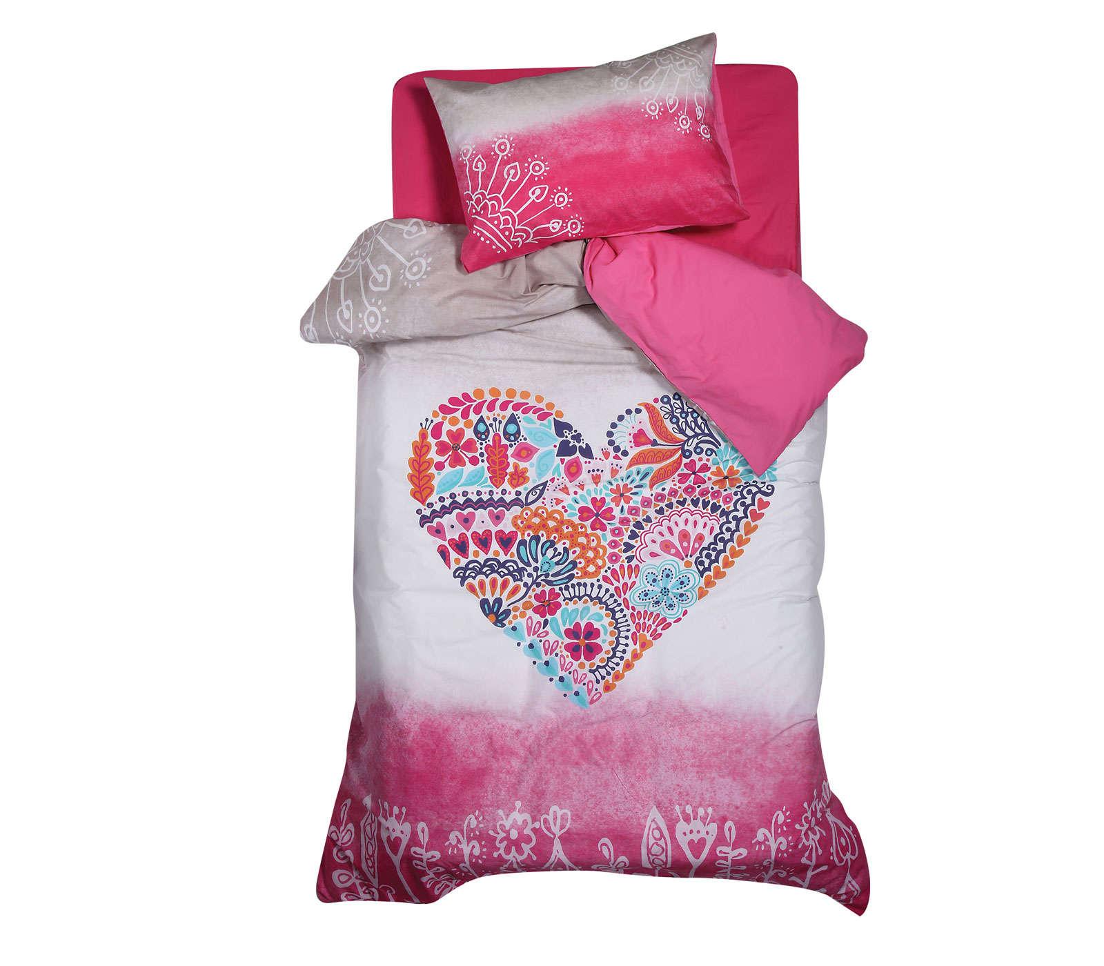 Παπλωματοθήκη Σετ 2τμχ Stylish Heart Pink Nef Nef 160x240cm