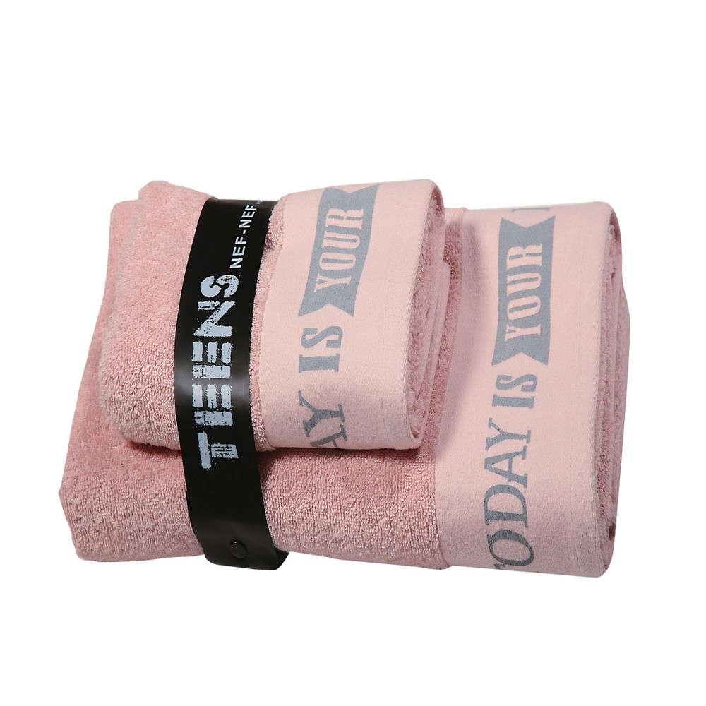 Πετσέτες Σετ 2τμχ. Today Is Your Day Pink Nef Nef Σετ Πετσέτες