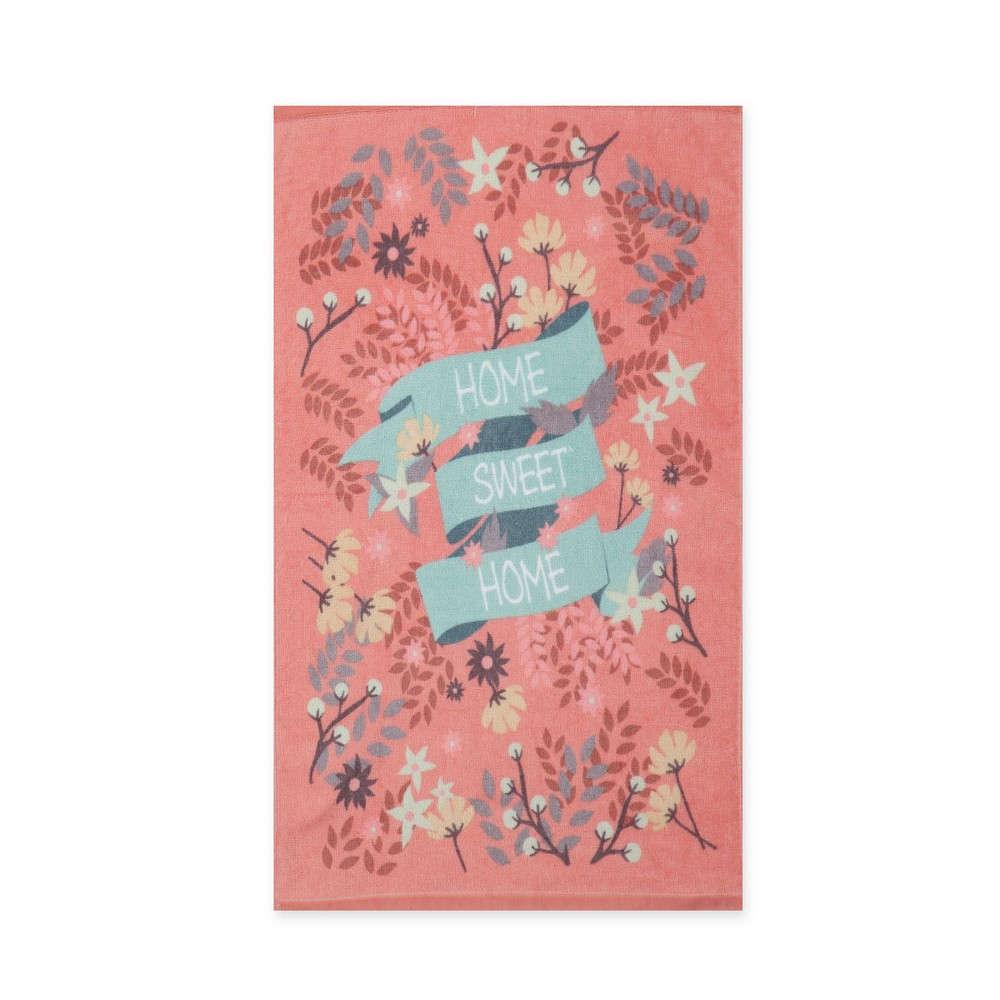 Ποτηρόπανο Home Sweet Home Pink Nef Nef 40x60cm