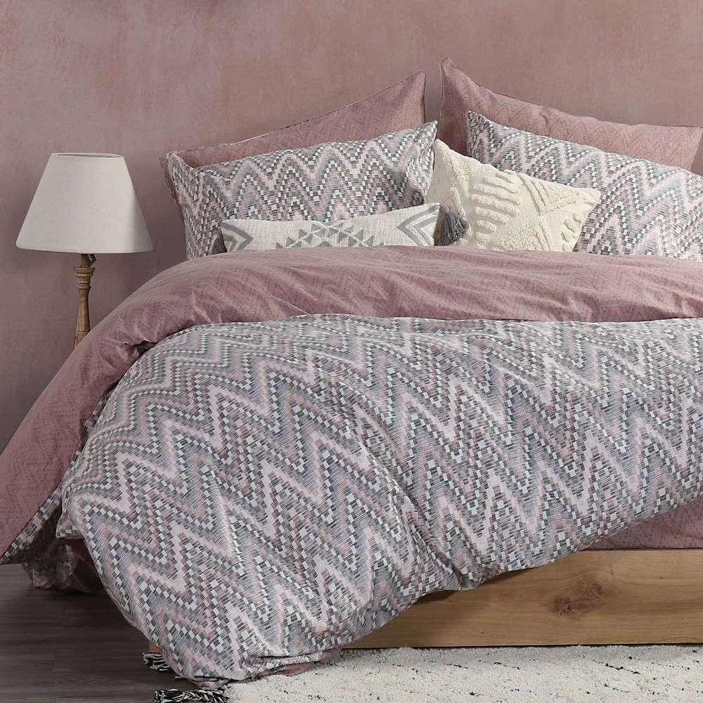 Σεντόνια Σετ Mozaik Pink Nef Nef Μονό 170x260cm