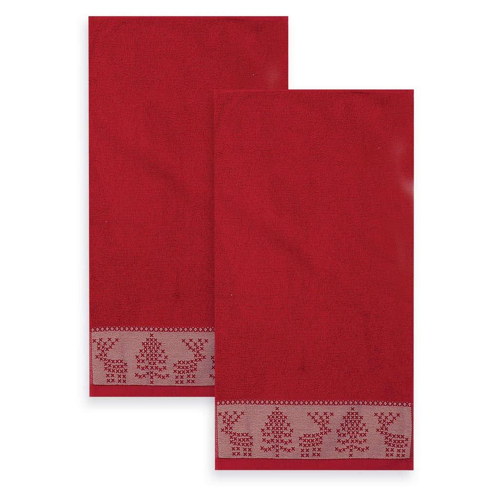 Πετσέτες Σετ 2Τμχ Greetings Red Nef Nef Σετ Πετσέτες