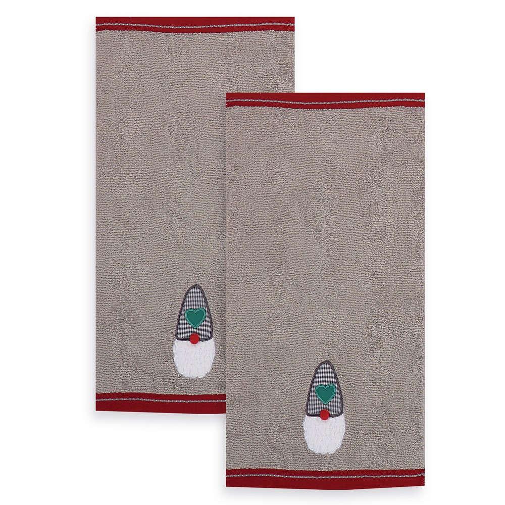 Πετσέτες Σετ 2Τμχ My Santa Grey-Red Nef Nef Σετ Πετσέτες