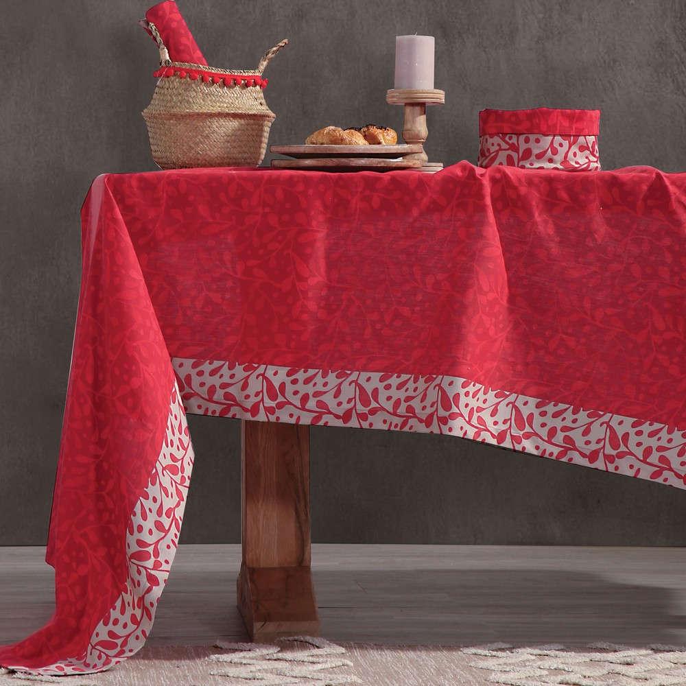 Τραπεζομάντηλο Cosy Winter Red Nef Nef 150X250