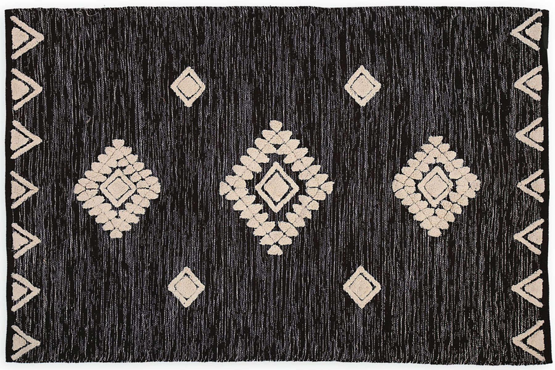Χαλί Amber Black-Beige Nef Nef 70X150 70x140cm