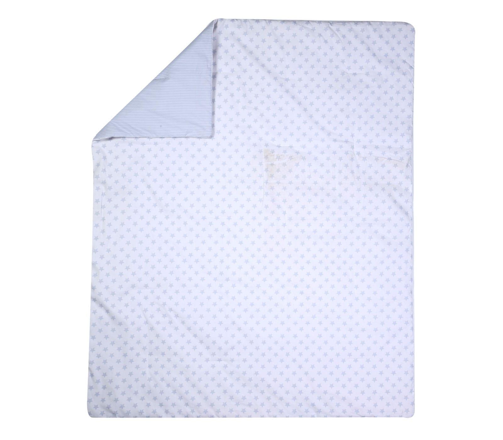 Κουβερλί Βρεφικό Above The Stars White-Grey Nef-Nef Κούνιας 110x140cm