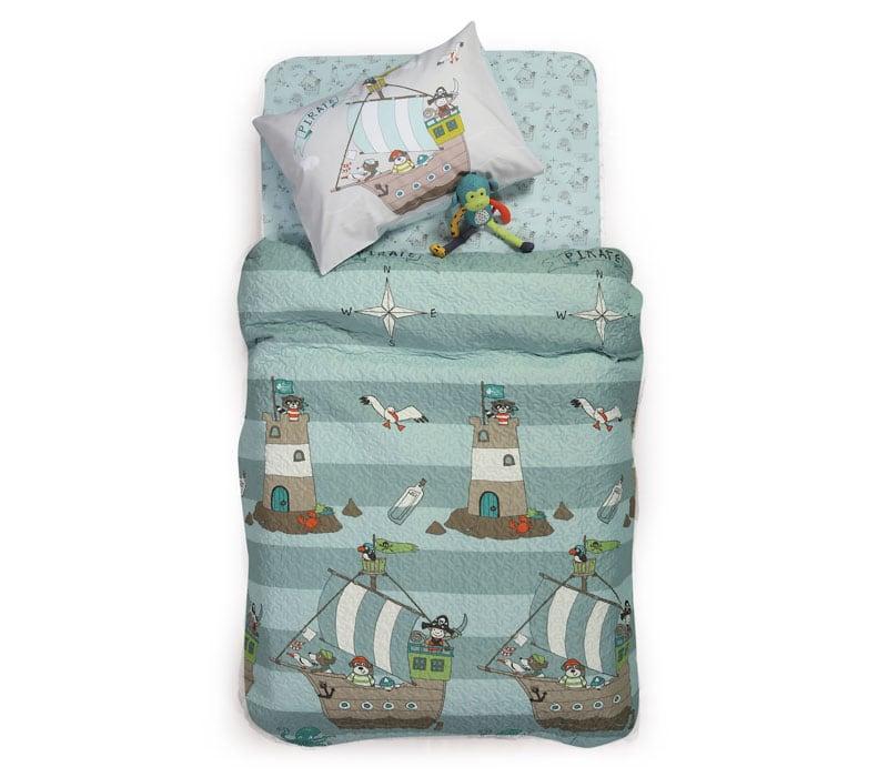 Κουβερλί Παιδικό Sail Like A Pirate Multi Nef-Nef Μονό 160x220cm