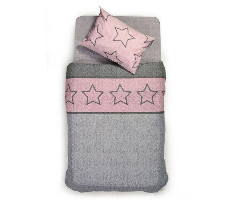 Κουβερλί Παιδικό Super Star Pink Nef-Nef Μονό 160x220cm