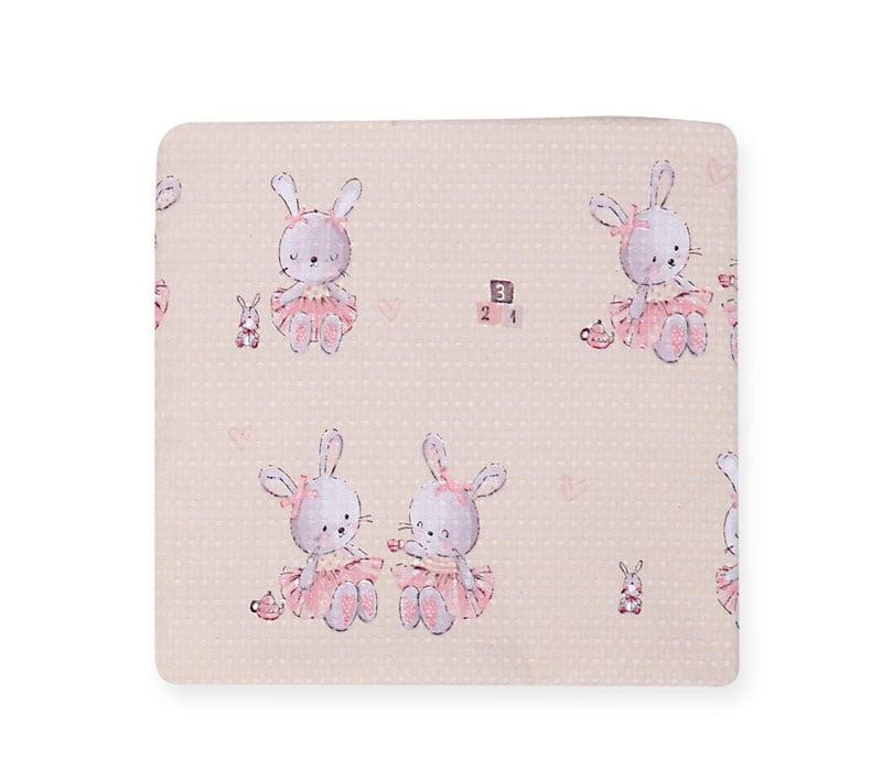 Κουβέρτα Βρεφική Πικέ Bunny Ladies Pink Nef-Nef Αγκαλιάς 75x110cm