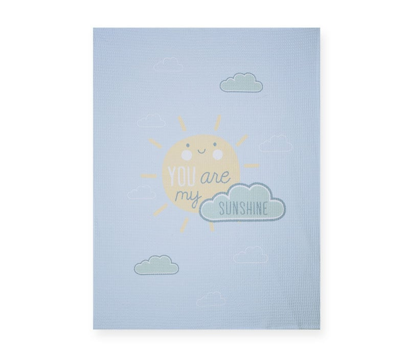 Κουβέρτα Βρεφική Πικέ Sunshine Blue Nef-Nef Κούνιας 110x150cm