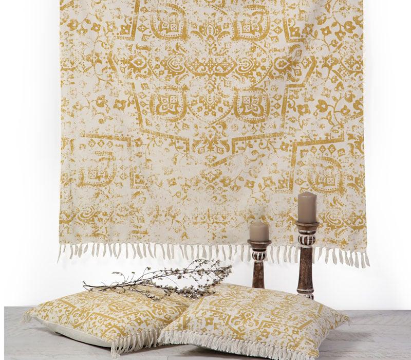 Κουβέρτα Καναπέ – Ριχτάρι Orville Mustard Nef-Nef 150X180 130x170cm
