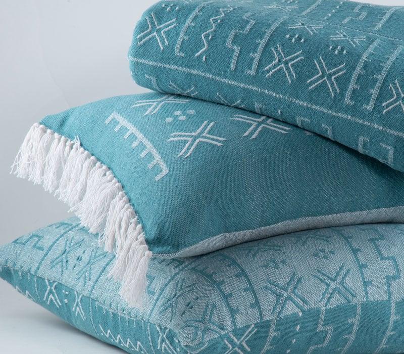 Μαξιλάρι Διακοσμητικό (Με Γέμιση) August Blue Jean Nef-Nef 30Χ50 100% Polyester