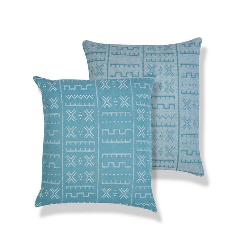 Μαξιλάρι Διακοσμητικό (Με Γέμιση) August Blue Jean Nef-Nef 60X60 100% Polyester