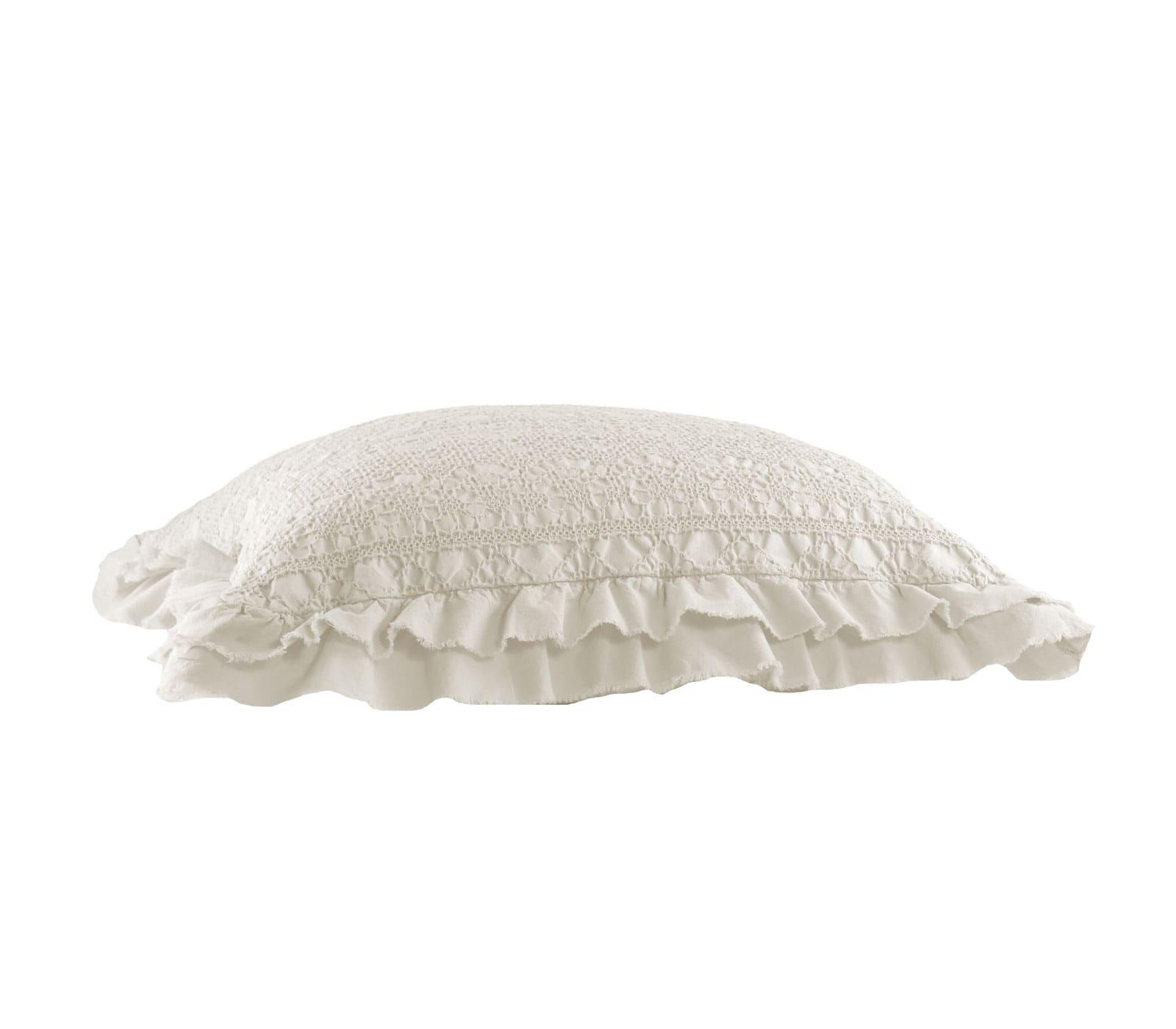 Μαξιλάρι Διακοσμητικό (Με Γέμιση) Aurelia Ecru Nef-Nef 50X50 100% Polyester
