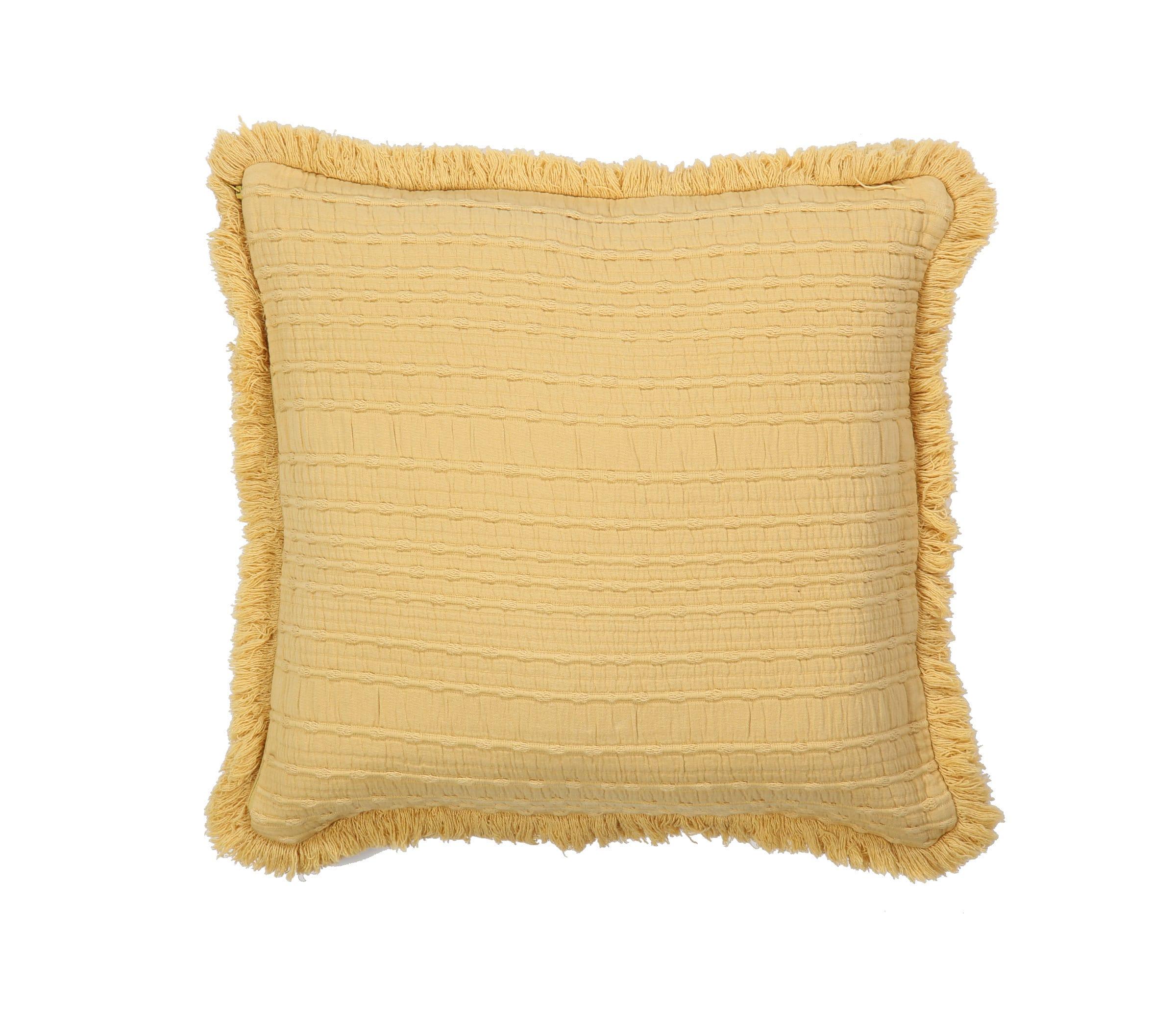 Μαξιλάρι Διακοσμητικό (Με Γέμιση) Madison Mustard Nef-Nef 50X50 100% Polyester