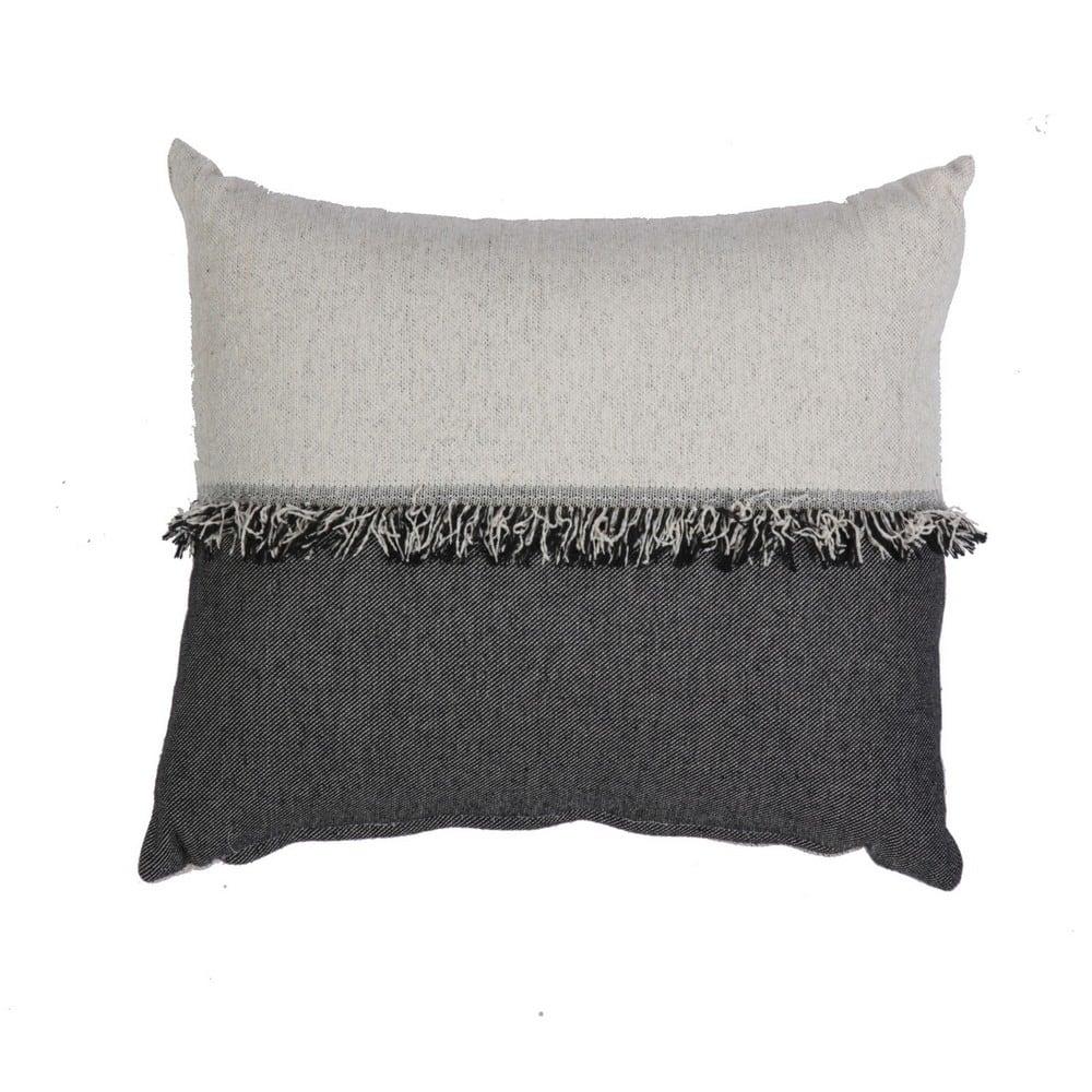Μαξιλάρι Διακοσμητικό (Με Γέμιση) Nature Ecru-Black Nef-Nef 40Χ60 100% Polyester