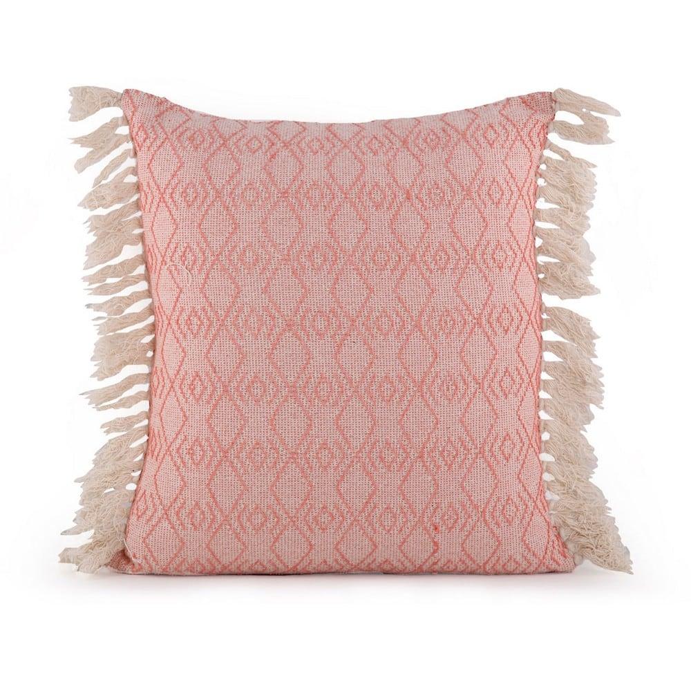 Μαξιλάρι Διακοσμητικό (Με Γέμιση) Nigrit Coral-Natural Nef-Nef 50X50 100% Polyester
