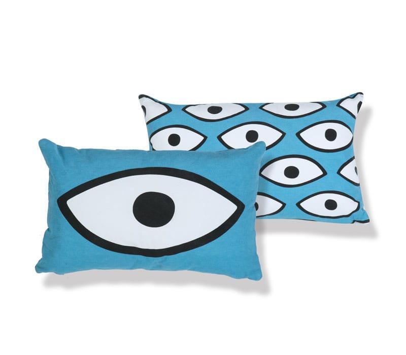 Μαξιλάρι Διακοσμητικό (Με Γέμιση) Watch Me Blue Nef-Nef 30Χ50 100% Polyester