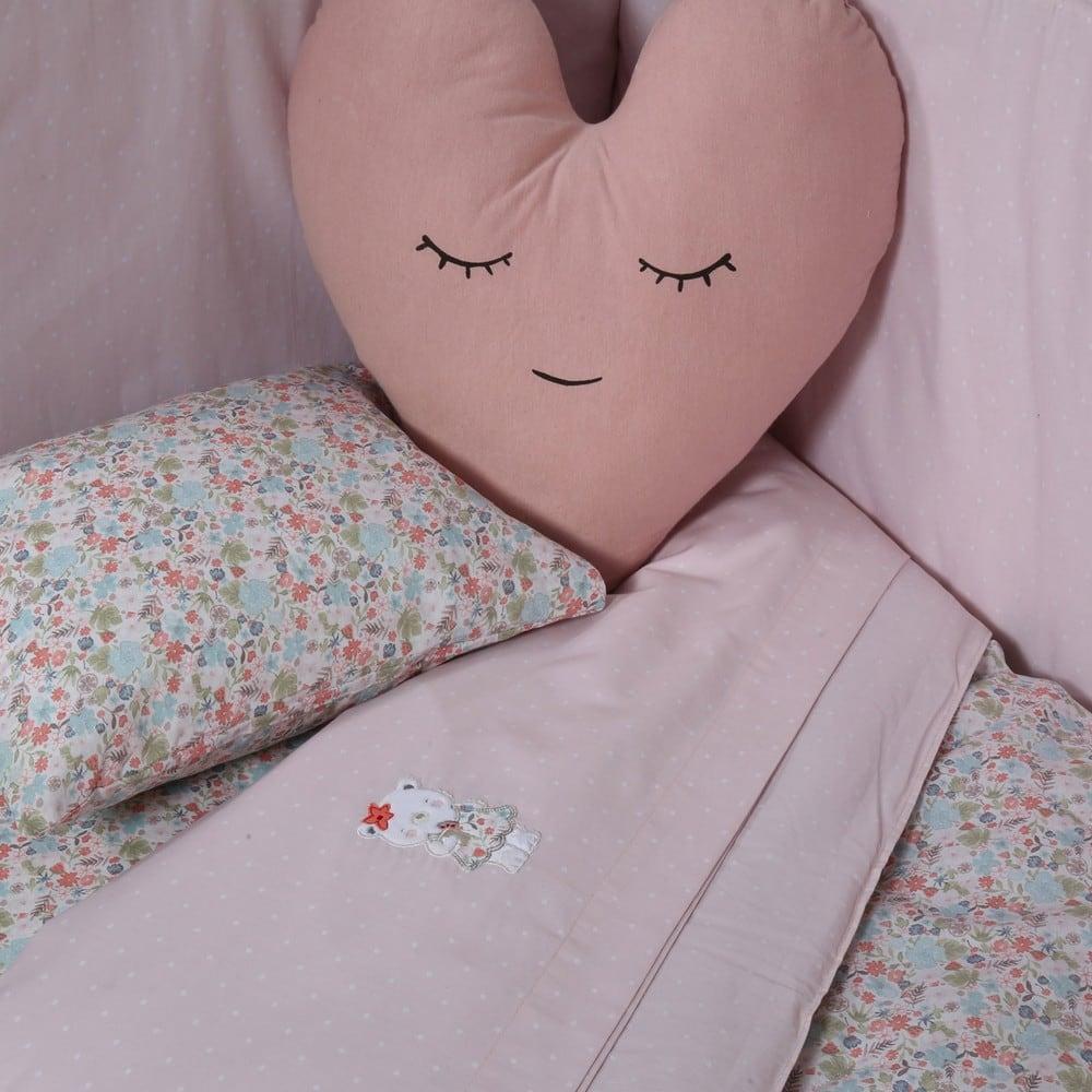 Μαξιλάρι Διακοσμητικό (Με Γέμιση) Παιδικό Fresh Heart Pink Nef-Nef 40Χ40