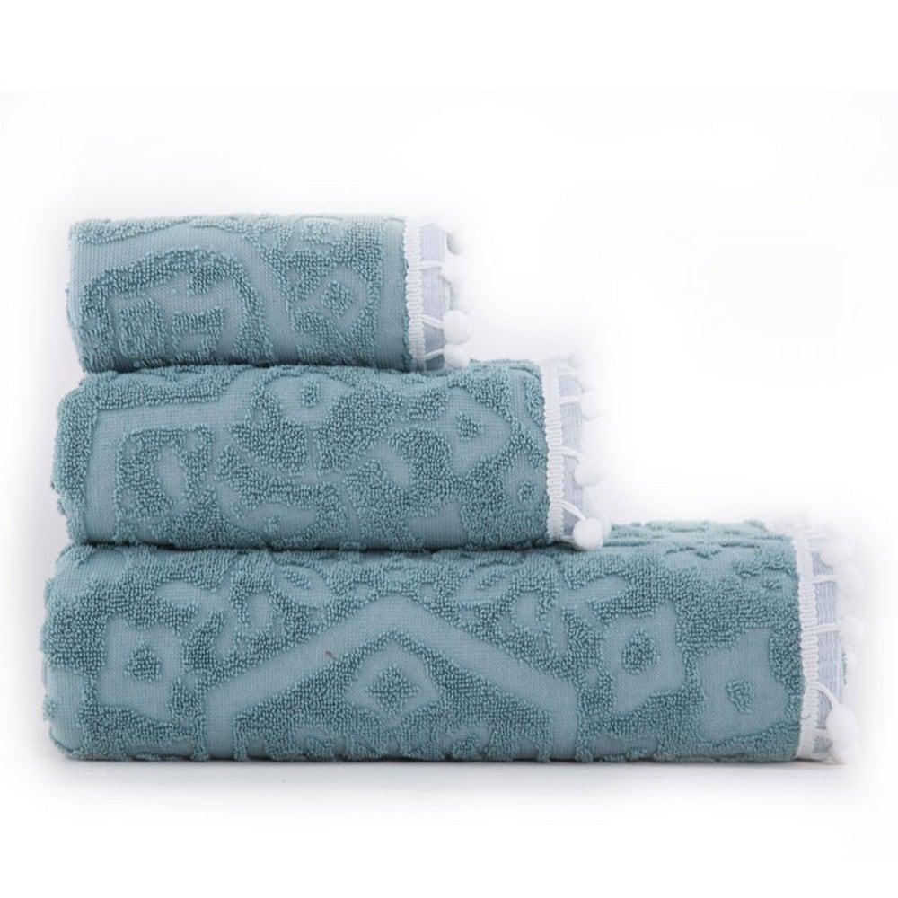 Πετσέτα Orville Turquoise Nef-Nef Προσώπου 50x90cm