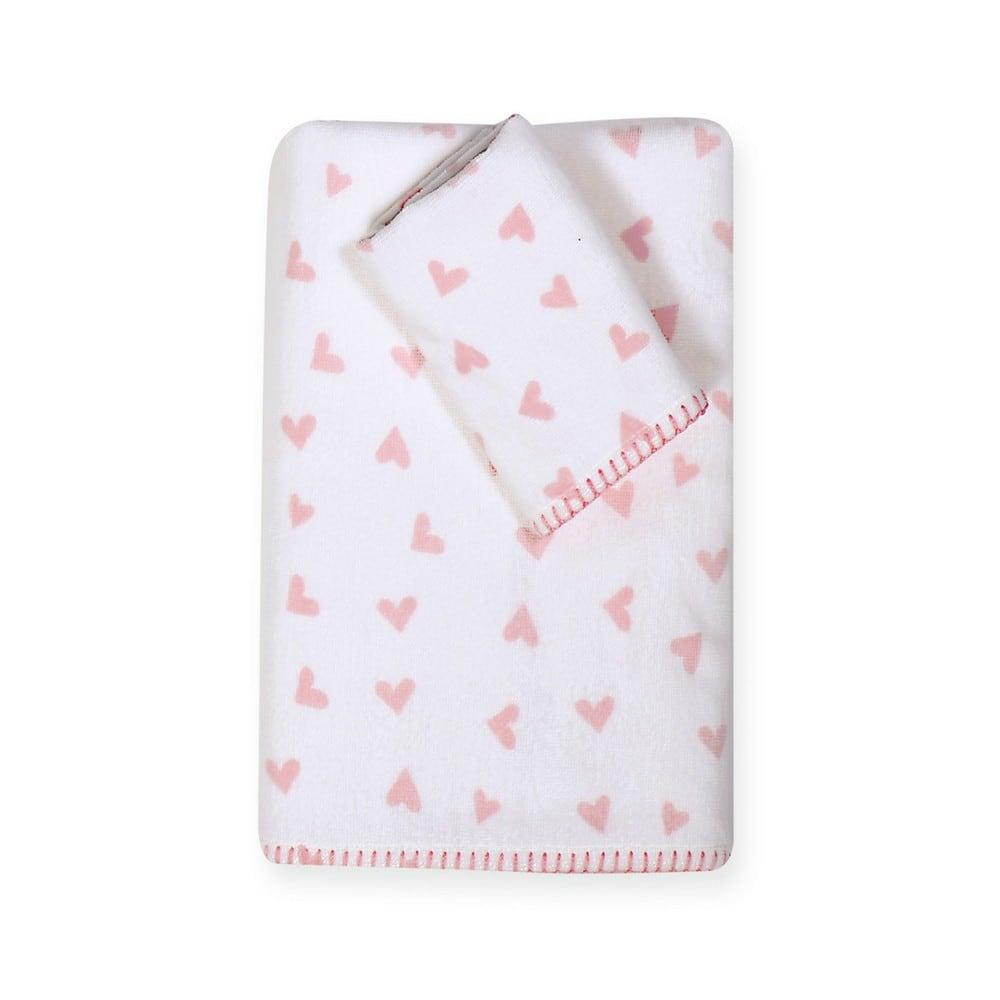 Πετσέτα Βρεφική Bunny Ladies Σετ 2τμχ White-Pink Nef-Nef Σετ Πετσέτες