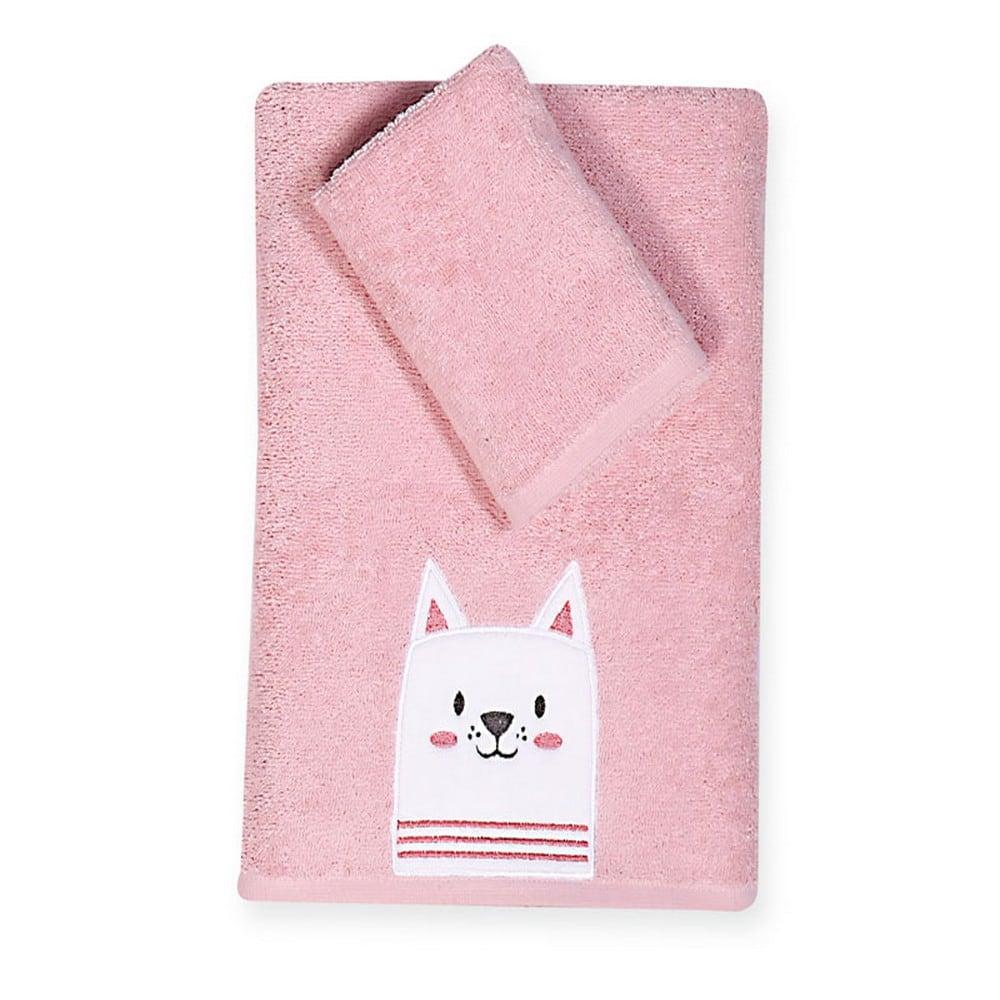 Πετσέτα Βρεφική Cat Σετ 2τμχ Pink Nef-Nef Σετ Πετσέτες