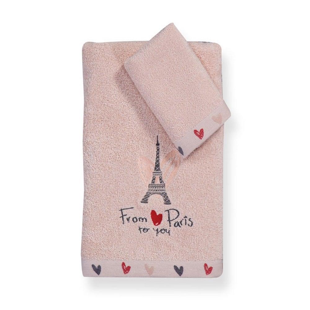 Πετσέτα Παιδική From Paris Σετ 2τμχ Pink Nef-Nef Σετ Πετσέτες